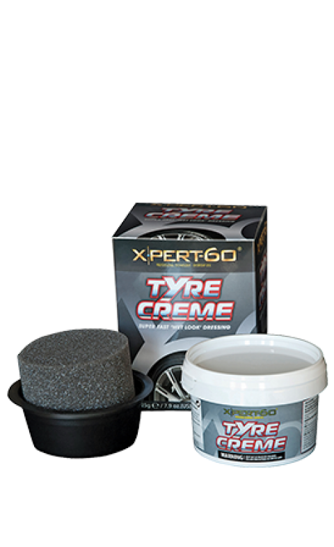 XPERT-60 TYRE CREAM DRESSING KIT, Plus Applicator & Pot 'Gloss Wet Look'